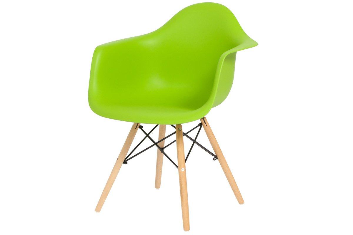 Krzesło Do Jadalni Plastikowe Florencja Zielony