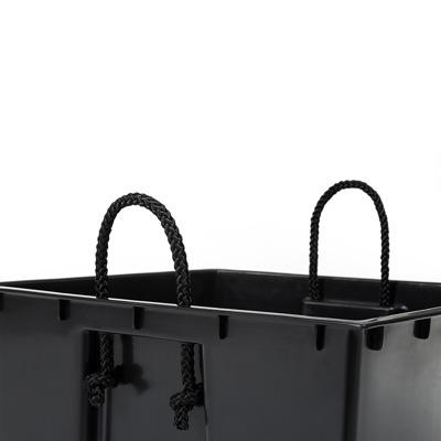 Donica osłonka FINEZJA 350x350 - czarny