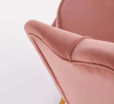 Duży fotel wypoczynkowy MUSZLA AMORINITO XL - pudrowy róż