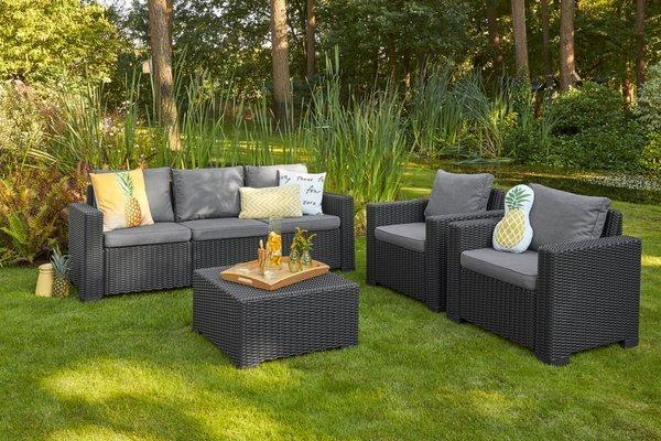 Fotel ogrodowy CALIFORNIA x 2 szt. - grafitowy