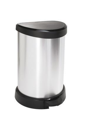 Kosz na śmieci CURVER metalizowany 15L