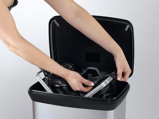 Kosz na śmieci DECOBIN CURVER metalizowany 30L