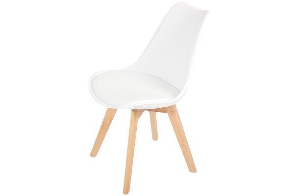 Krzesło do jadalni BOLONIA białe - 4 szt.