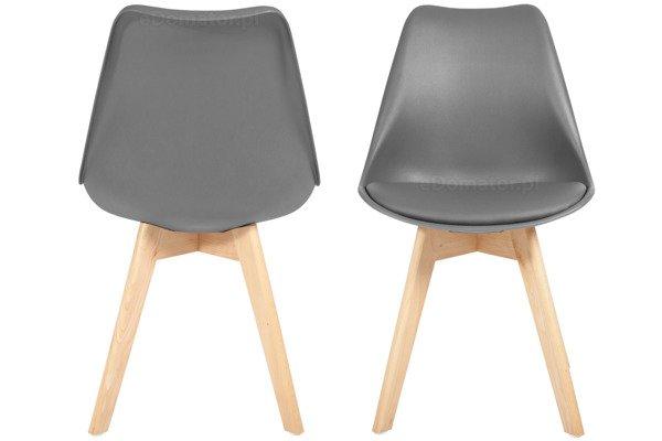 Krzesło do jadalni DSW DAW Eames BOLONIA - grafitowe z poduszką
