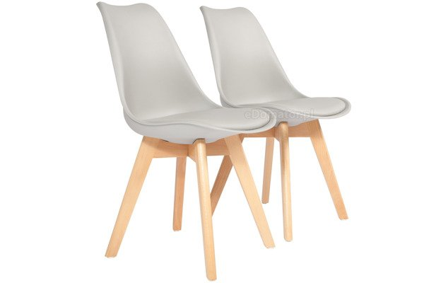 Krzesło do jadalni DSW DAW Eames BOLONIA - szare z poduszką