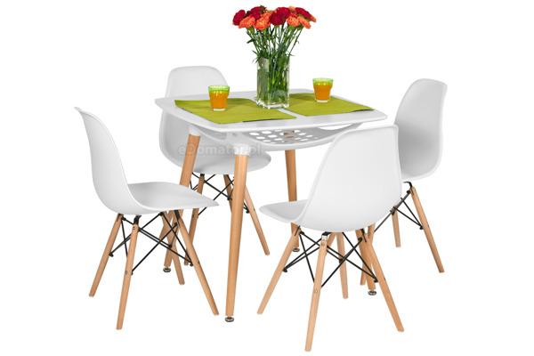 Krzesło do jadalni DSW DAW Eames MEDIOLAN - białe