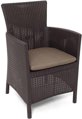 Krzesło fotel ogrodowy IOWA rattan style - brązowy 1 szt.