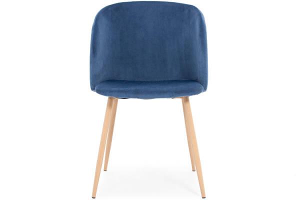 Krzesło fotelowe tapicerowane ANNA - granatowe