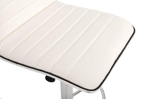 Krzesło hoker HUGO 98-118 cm - biały