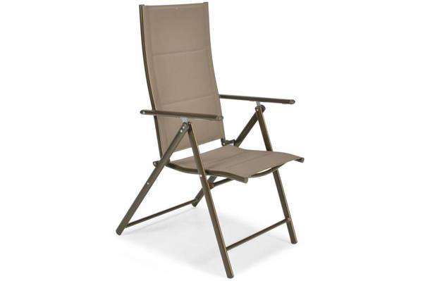 Krzesło ogrodowe składane aluminiowe MODENA  - Brązowe