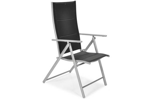 Krzesło ogrodowe składane aluminiowe MODENA - Czarne