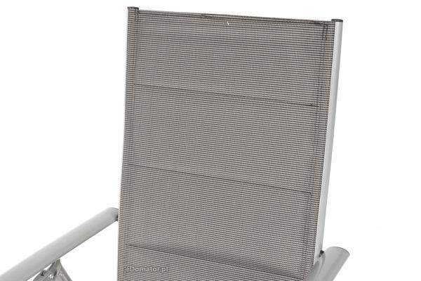 Krzesło ogrodowe składane aluminiowe MODENA  - Srebrne