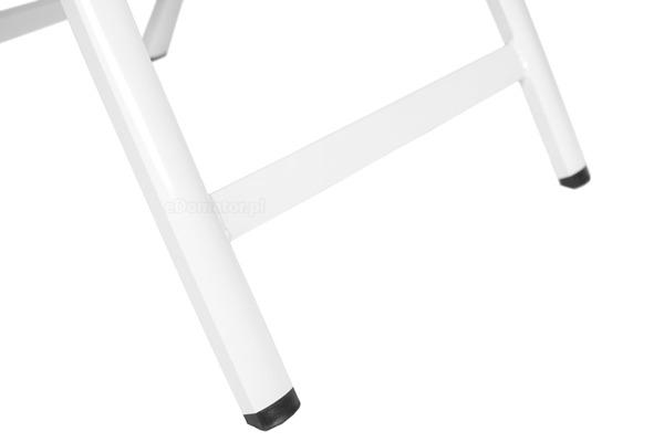 Krzesło ogrodowe składane aluminiowe VERONA VETRO - białe