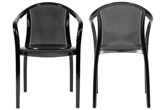 Krzesło plastikowe IMPERIALE - czarne