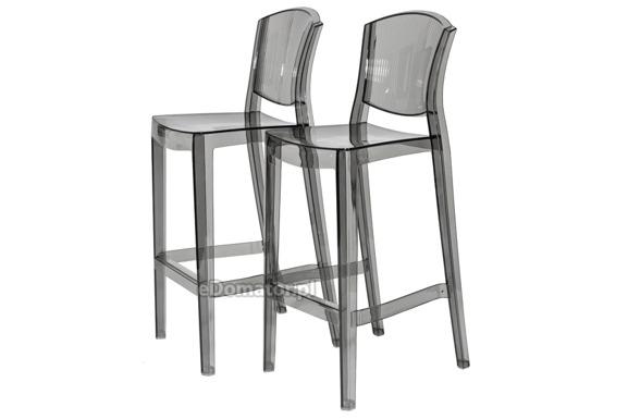 Krzesło plastikowe barowe LOTUS BAR - szare