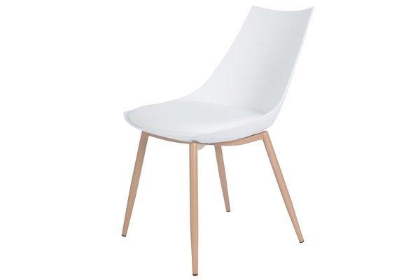 Krzesło z poduszką do kuchni jadalni SARA - białe