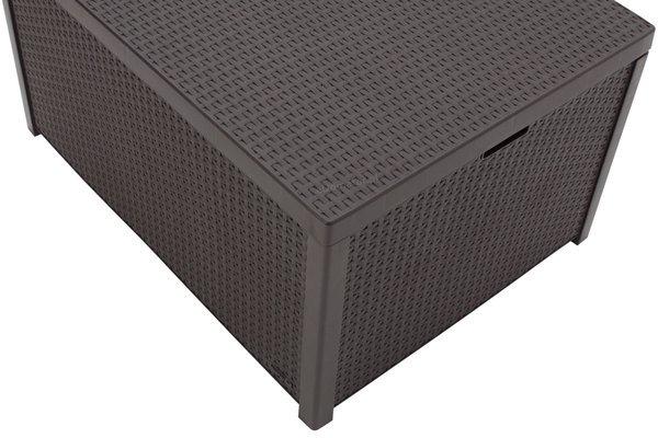 Meble ogrodowe CORFU MAX BOX 5-osobowe - brąz
