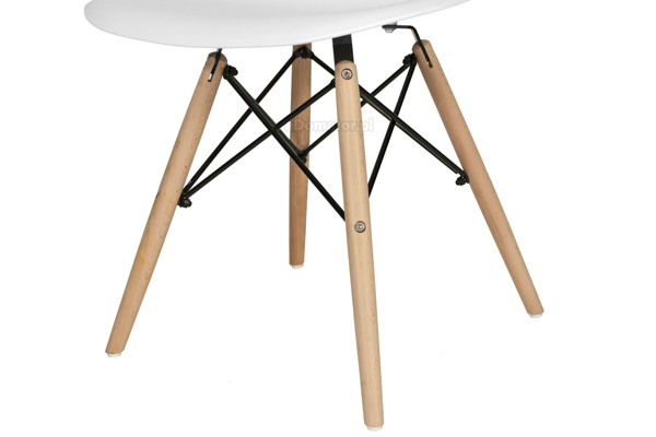 Nowoczesne białe krzesło MEDIOLAN - 4 szt.