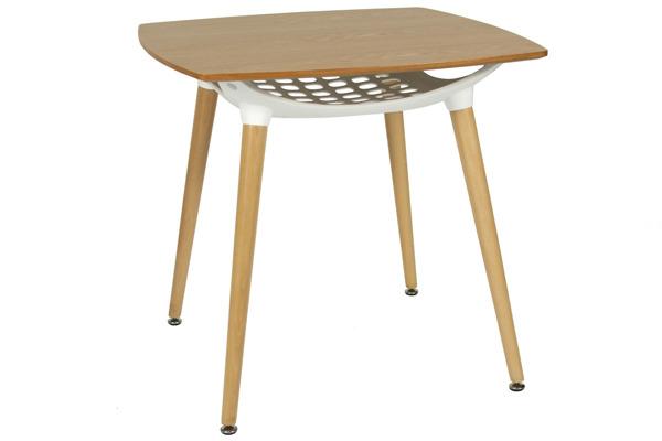 Nowoczesny brązowy stół MEDIOLAN 80x80