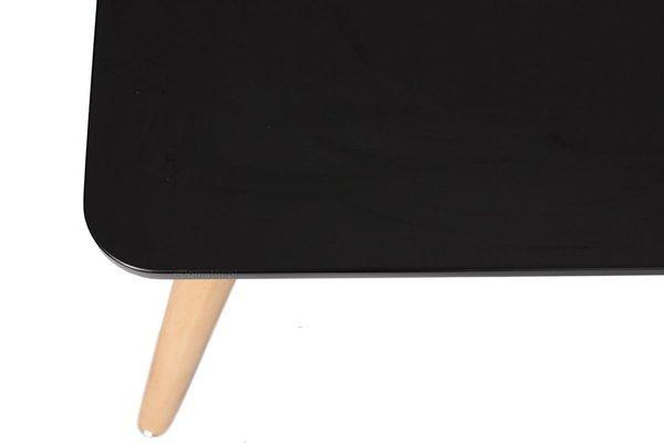Nowoczesny duży stół MEDIOLAN 120x80 - czarny