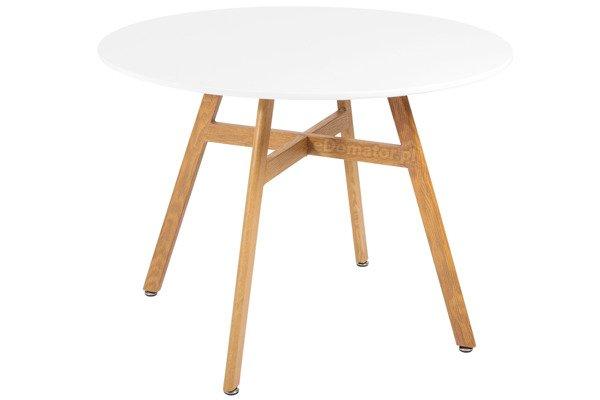 Nowoczesny stół okrągły BOLONIA 100 - biały