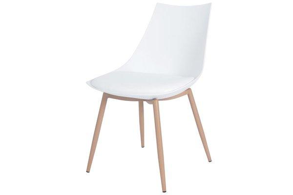 OUTLET - Krzesło z poduszką SARA - białe