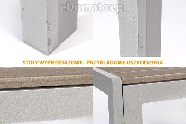 OUTLET - Stół ogrodowy MODENA  - srebrny