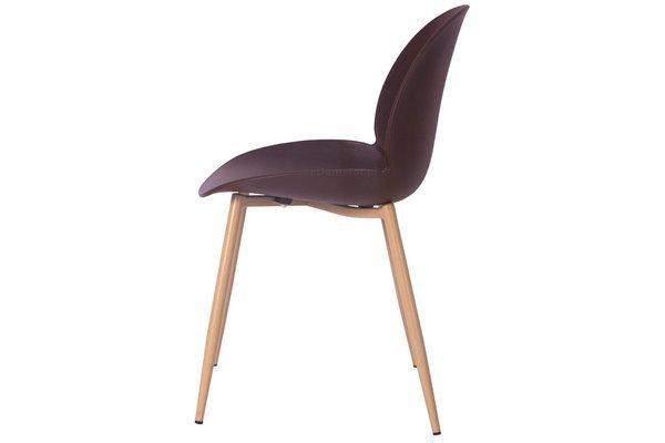 OUTLET - krzesło do jadalni GALA - brązowe
