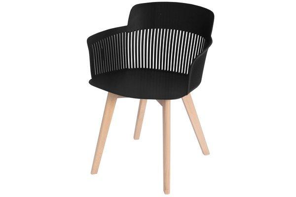OUTLET - krzesło fotel IMPERIA - czarne