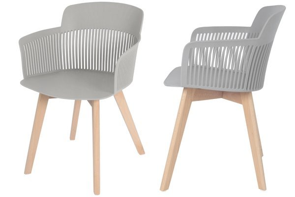 OUTLET - krzesło fotel IMPERIA - szare