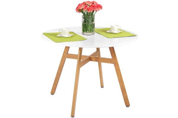 OUTLET nowoczesny stół okrągły BOLONIA 100 - biały