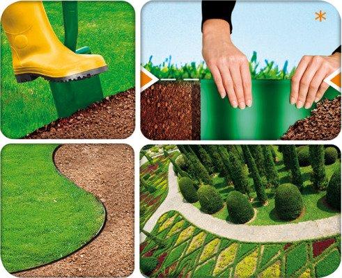 Obrzeże ogrodowe 20 cm x 9 m - zielone