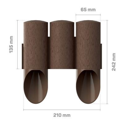 Palisada ogrodowa MAXI 2,1 m - brązowa