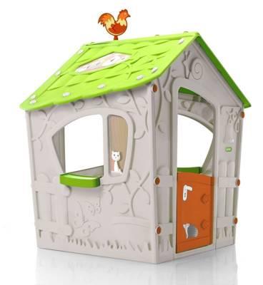 Plastikowy domek dla dzieci KETER Magic Play House - kremowy