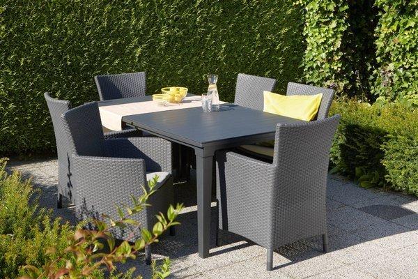 Plastikowy stół ogrodowy Keter FUTURA 165 cm - grafitowy