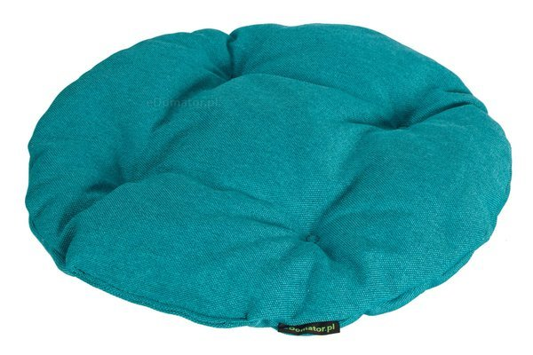 Poduszka okrągła na krzesło OFELIA 36 cm - turkusowa