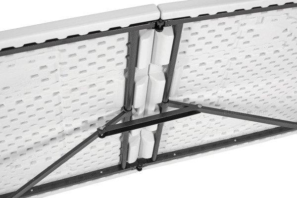 STÓŁ CATERINGOWY Składany dł. 244 cm Biały