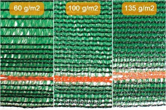Siatka cieniująca 1,25x50m 60 g/m2 55% UV Zielona