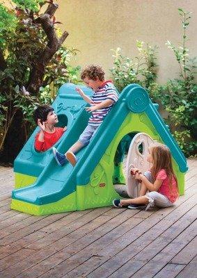 Składany domek dla dzieci ze zjeżdżalnią 3 w 1 FUNTIVITY zielony KETER