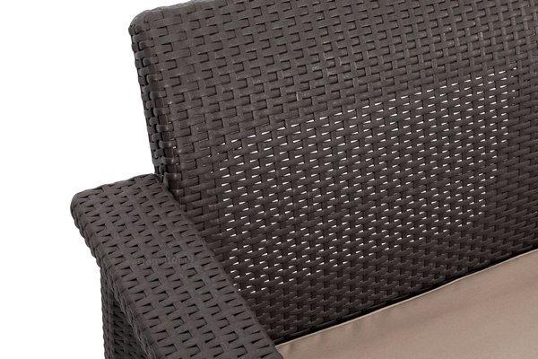 Sofa 2-osobowa CORFU LOVE - brązowa