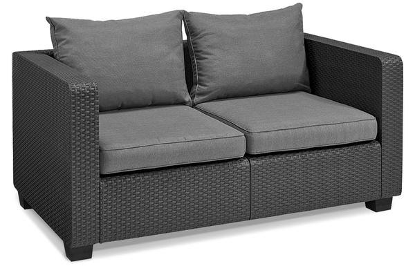 Sofa 2-osobowa SALTA - grafitowa