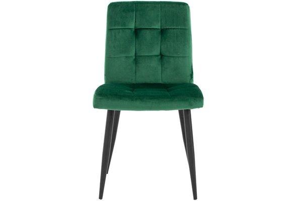 Stół PORTLAND (200/160x90) i 8 krzeseł DIANA - komplet do jadalni - brąz + zielony
