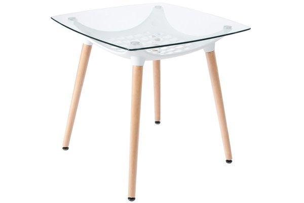 Stół kwadratowy MEDIOLAN LUNA 80x80 - szkło hartowane
