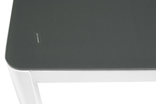 Stół ogrodowy aluminiowy VERONA VETRO - Biały