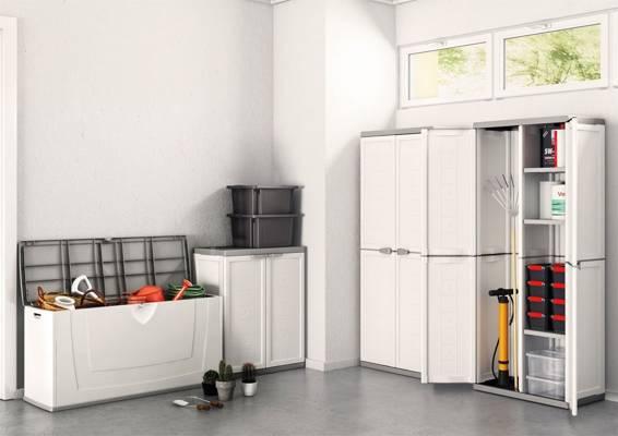 Szafa plastikowa schowek garażowy KIS JOLLY Utility - biała
