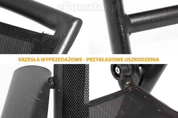 WYPRZEDAŻ - Krzesło ogrodowe VEGAS - czarne