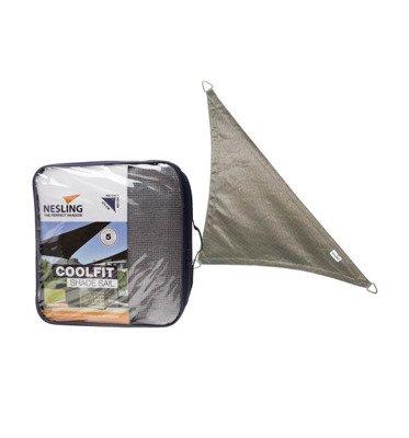 Żagiel przeciwsłoneczny COOLFIT trójkąt 90 4,0 x 4,0 x 5,7 m - Antracyt