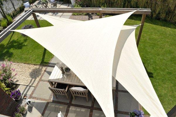 Żagiel przeciwsłoneczny COOLFIT trójkąt 90 5,0 x 5,0 x 7,1 m - Antracyt