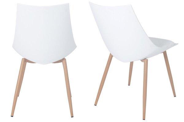 Zestaw 4-osobowy do jadalni - stół okrągły LUNA i 4 krzesła SARA z poduszką