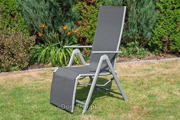 Zestaw: leżak aluminiowy LAGUNA 7 pozycji + pokrowiec